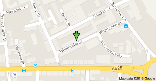 Map of Wharncliffe St, Barnsley, South Yorkshire S70 6BP