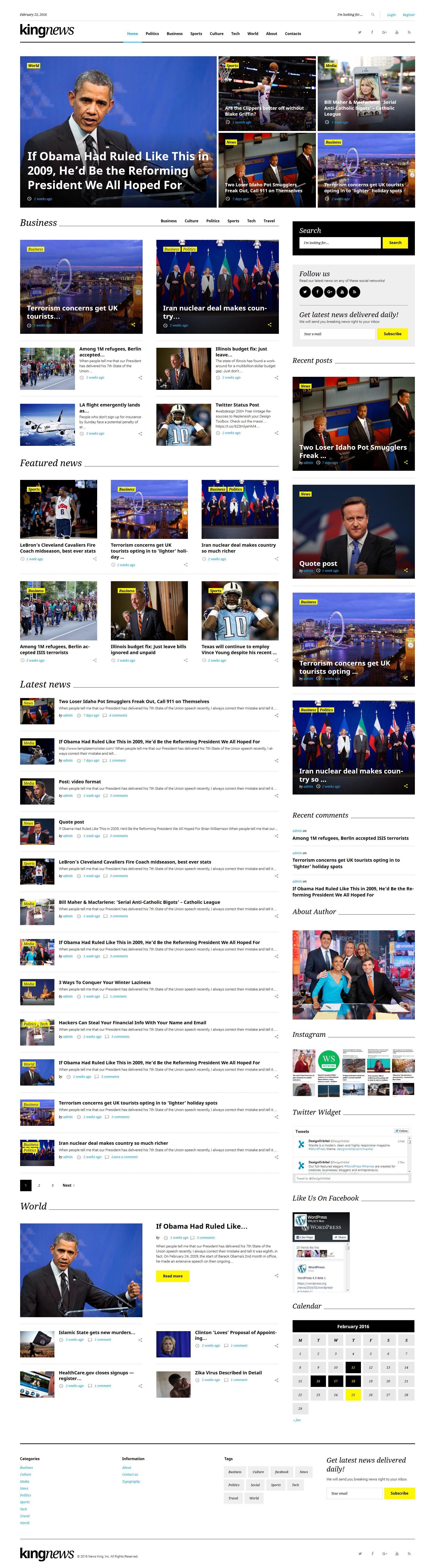 KingNews - Magazine News Portal & Blog WordPress Theme | Wordpress ...
