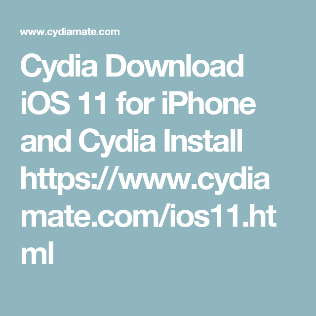 Pin by Cydia Download on Cydia download | Ios 11, Iphone 11
