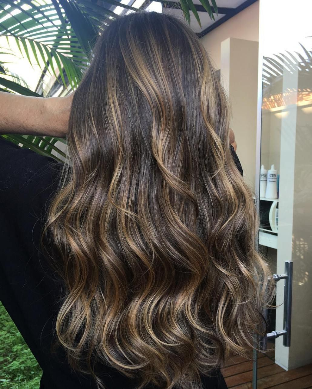 Dark Golden Blonde Highlights Balayage Balayage Brunette Brunette Balayage Hair Brunette Hair Color