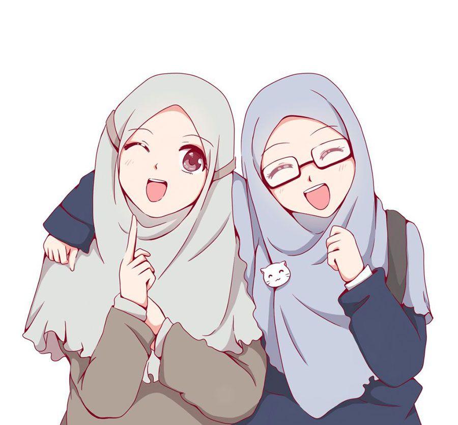 1000 Gambar Kartun Muslimah Cantik Bercadar Kacamata Kartun Lukisan Keluarga Ilustrasi Karakter