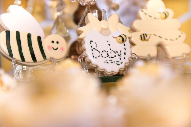 Swoon over this gorgeous bumble bee baby shower The cookies are wonderful See  Swoon over this gorgeous bumble bee baby shower The cookies are wonderful See