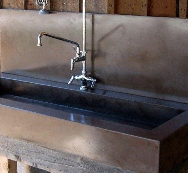 Outdoor Concrete Sink With Backsplash Concrete Sink Sink Custom Sinks