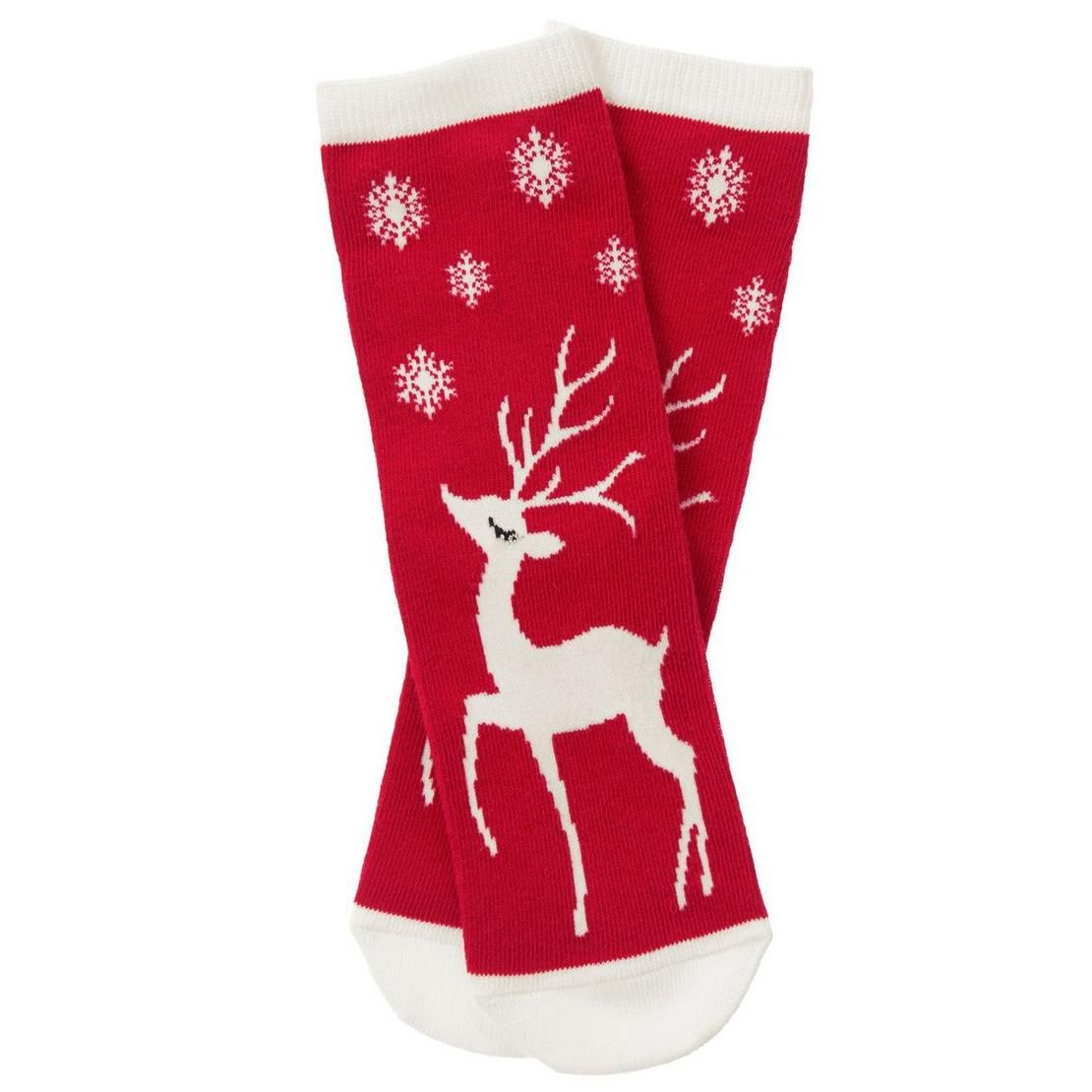 2dfb4eb47 Girls Holly Red Reindeer Socks by Gymboree