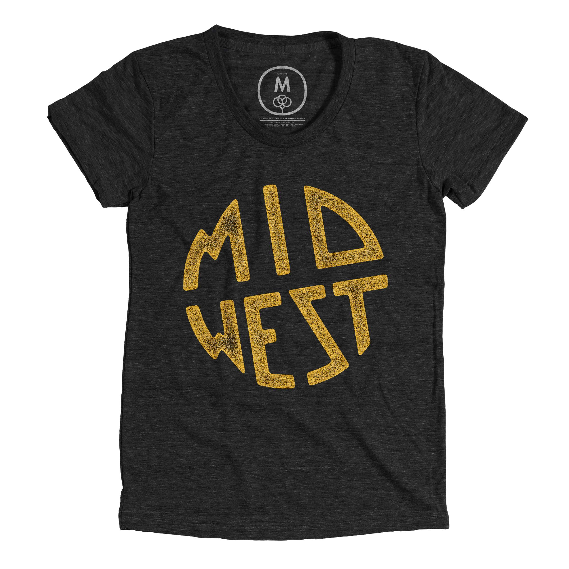 Midwest Vintage Black Womens Wood Shop Pinterest Shirt