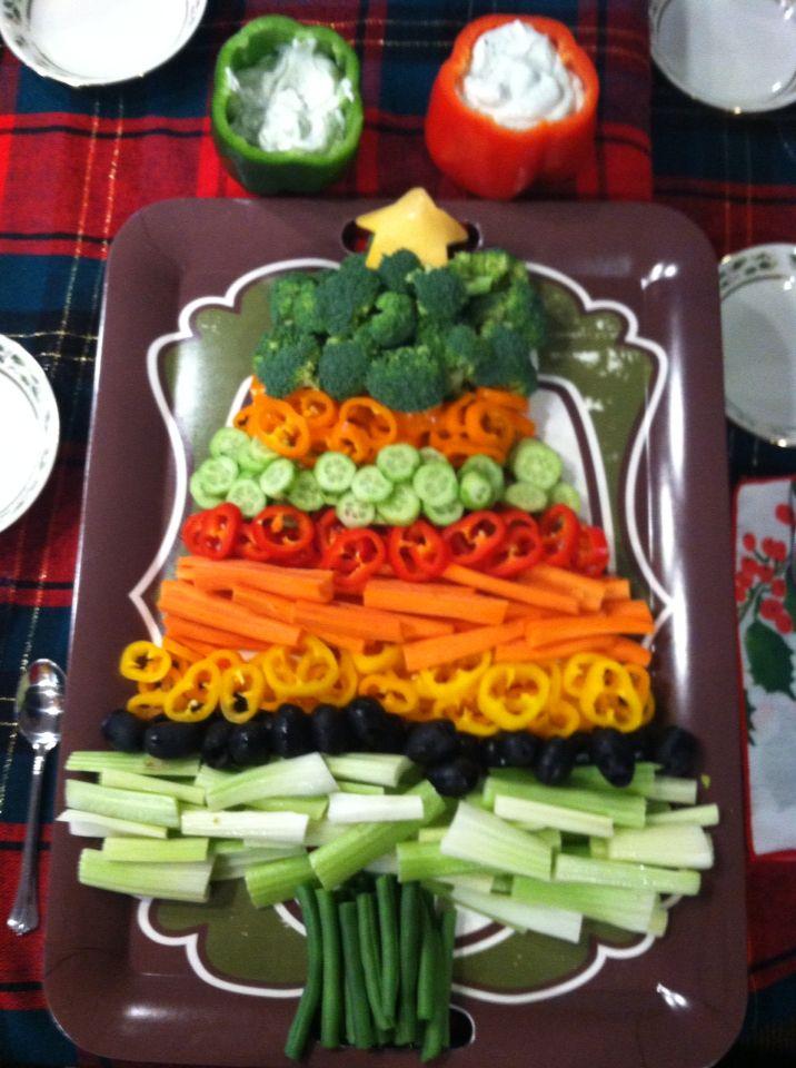 christmas veggie tray i made