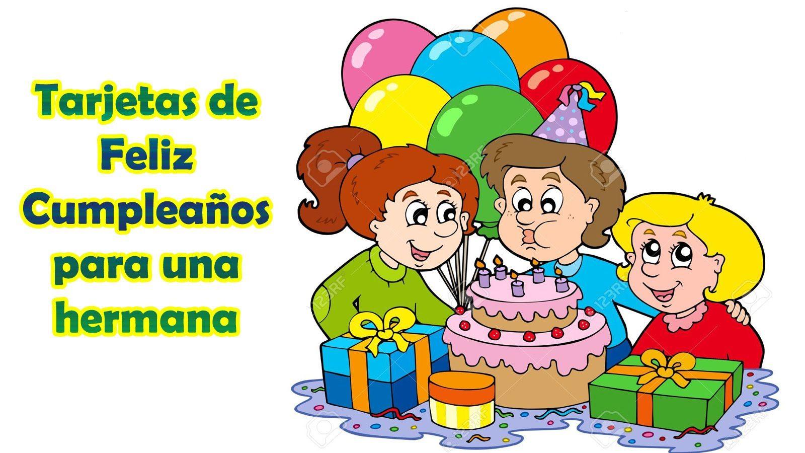 Tarjetas de Feliz Cumpleaños para una Hermana, Dios te bendiga por siempre http  frasesbonitas