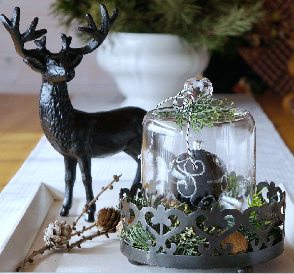 DIY Dekoration mit Weckglas und Weihnachtskugel http://meinequiltsundich.blogspot.com