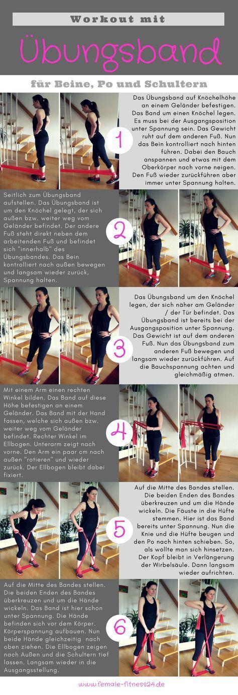 Workout Mit Dem übungsband Für Bauch Beine Po Schultern