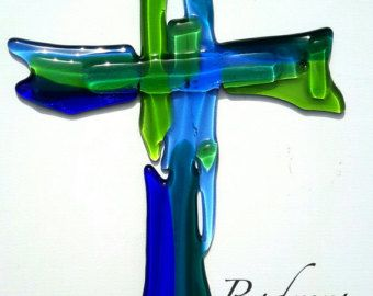 Image result for fused glass crucifix