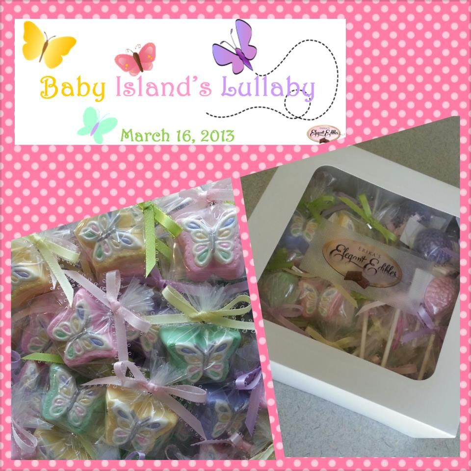 Butterfly baby shower theme my passion erika 39 s elegant edibles 39 exquisite chocolate for - Butterfly themed baby shower favors ...