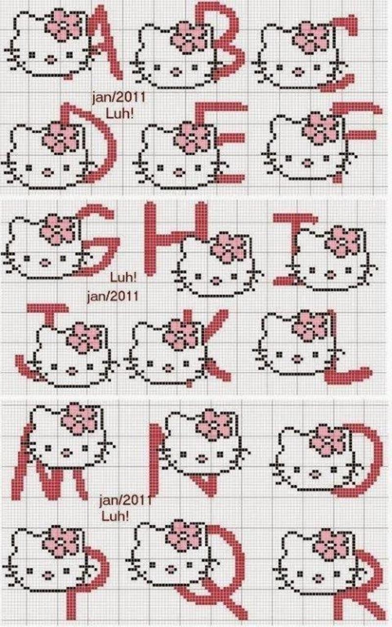grilles gratuites alphabet - Page 2 | Alphabet de broderie, Lettres de broderie, Modèles de ...