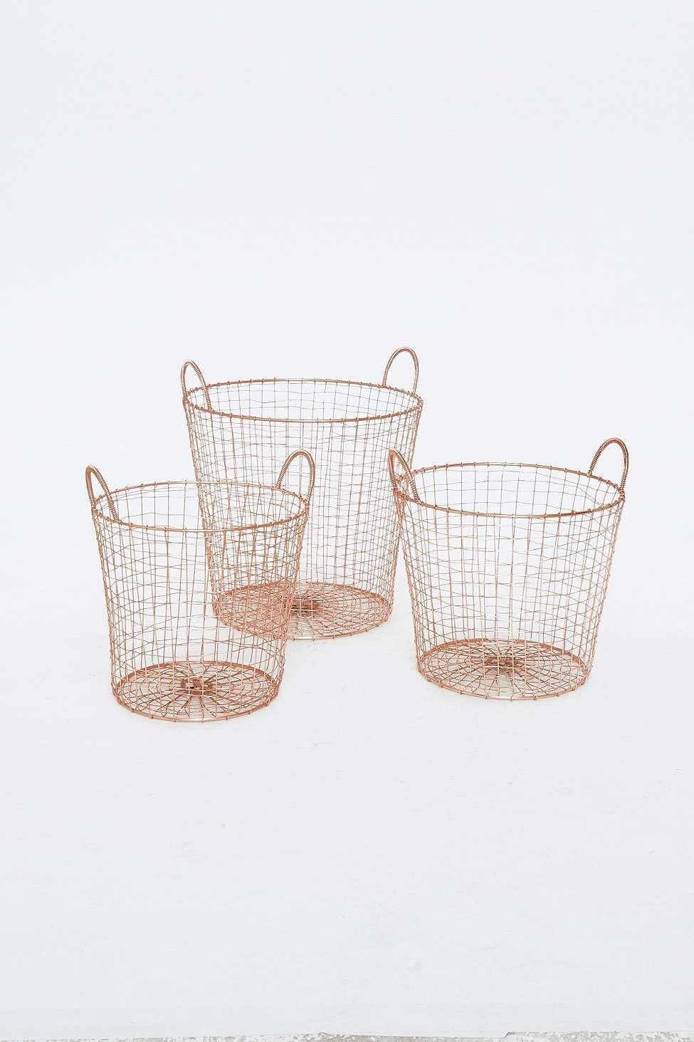 Wäschekörbe aus Kupfer im Set | !!! wishlist !!! | Pinterest ...