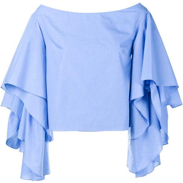 fd0c6f544bb04 Rosie Assoulin Bidi Bidi Bom Bom Off-Shoulder Top ( 715) ❤ liked on Polyvore  featuring tops