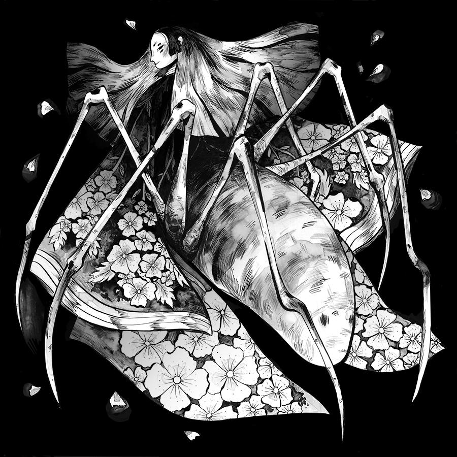 Yokai, Jorōgumo Lynn Scurfield Lynn, My arts, Illustration