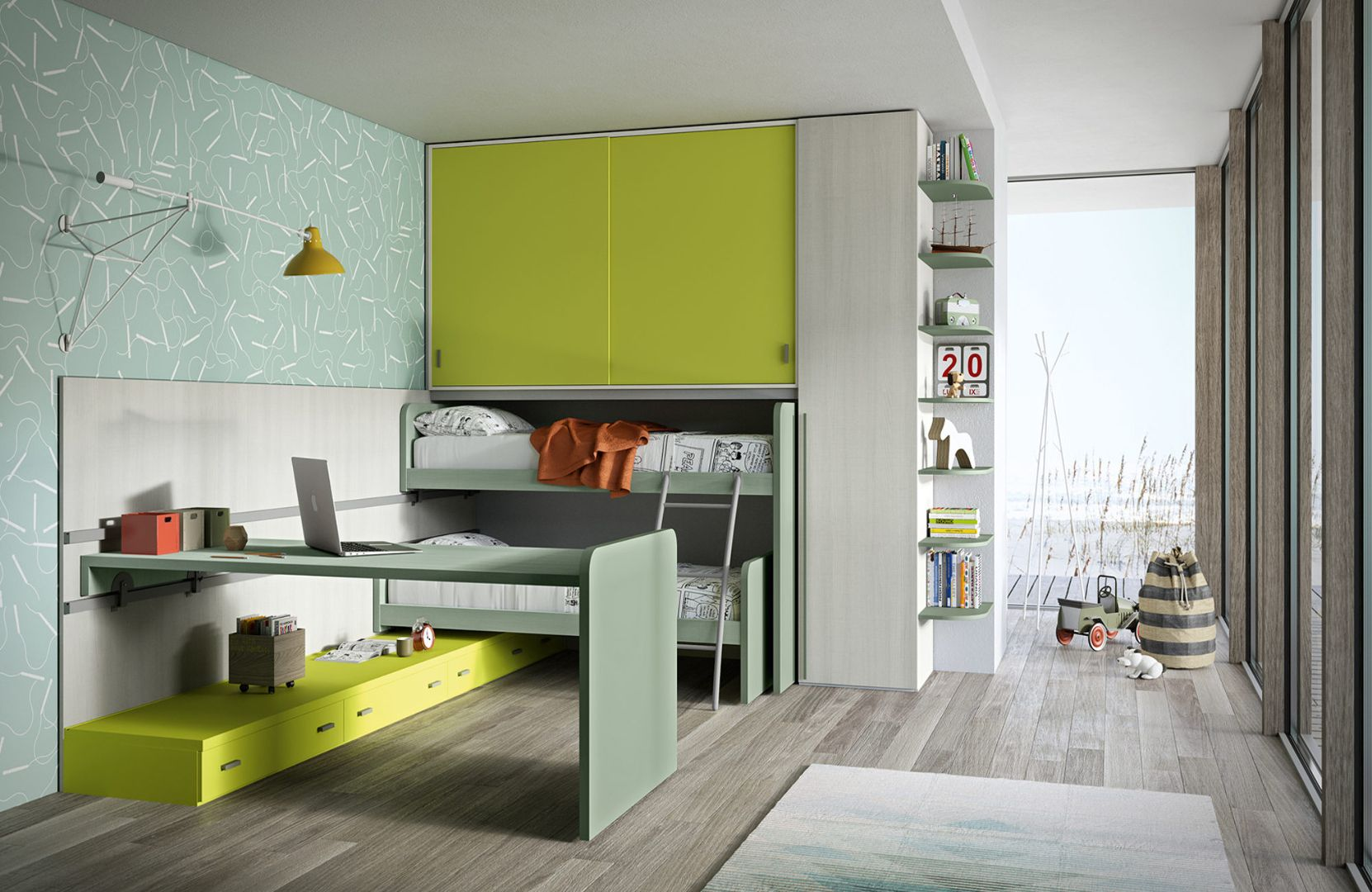 Camerette Siloma ~ Childrens bedroom by siloma #siloma #childrens #bedroom