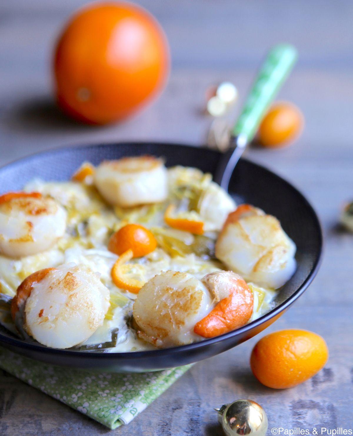 saint jacques fondue de poireaux et kumquats recipe. Black Bedroom Furniture Sets. Home Design Ideas