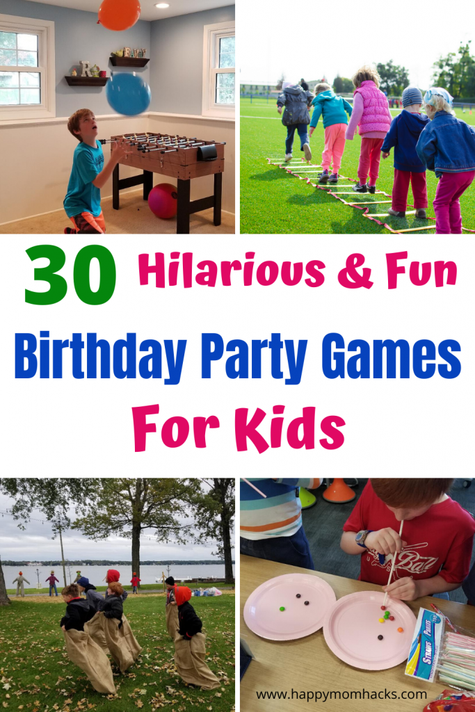 30 Fun Birthday Party Games For Kids Happy Mom Hacks Birthday Party Games For Kids Kids Party Games Boys Birthday Party Games