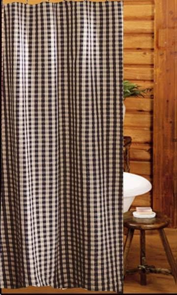 red and tan shower curtain. Heritage Check Shower Curtain House check shower curtain measures  72x72 shown in black