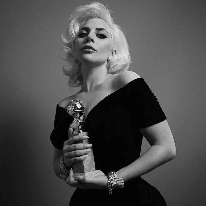 Pin By Gustavo Cavalari On Lady Gaga Lady Gaga Lady Gaga Black And White Gaga Golden Globes