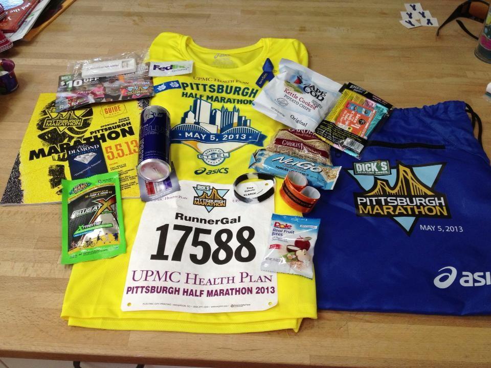 My 2013 Pittsburgh Half Marathon Running Shirt Race Bib