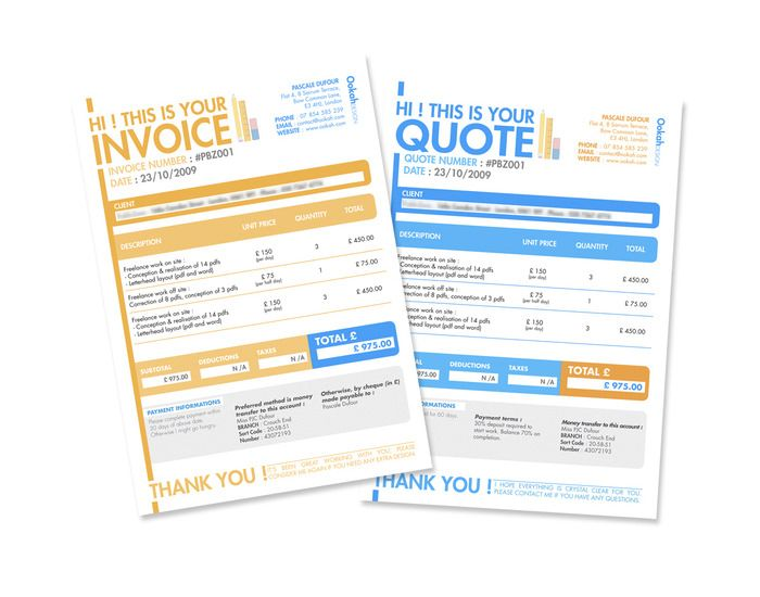50 Creative Invoice Designs for Your Inspiration Invoice Ideas - invoice designs