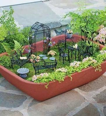 Ideas de jardines miniatura Gardens Miniature gardens and Terraria