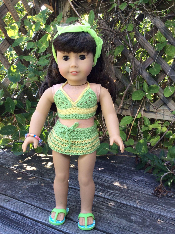 American Girl Doll Crochet Bikini (2-piece Bathing Suit)