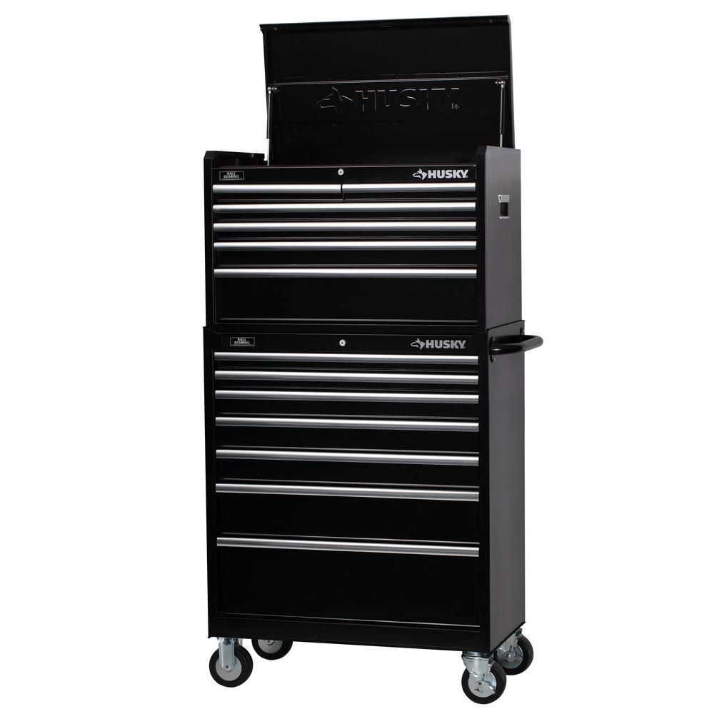 Husky  Drawer Tool Chest And Cabinet Set Rust Resistant