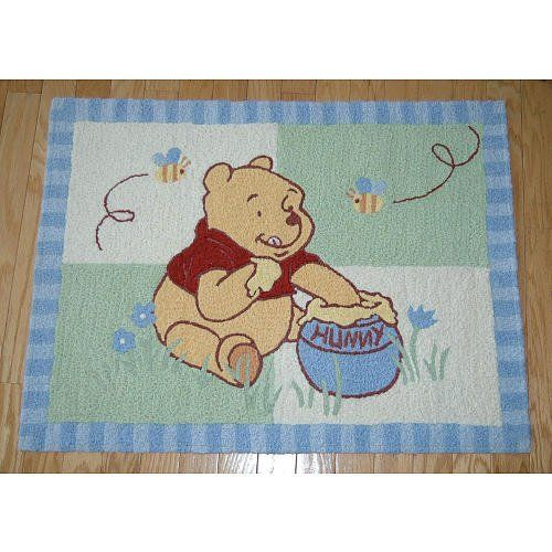 Winnie The Pooh Hunting Hunny Nursery Rug 30 X40 By Kidsline 19 75 Machine Wash Cold Tumble Dry Low 50 Acrylic 40 Olefin 10 Polyester