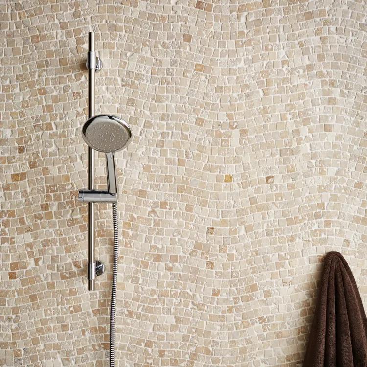 Mosaique Sol Et Mur Travertin Vague Beige 2 3 X 2 3 Cm Leroy Merlin En 2020 Sol Et Mur Travertin Sol