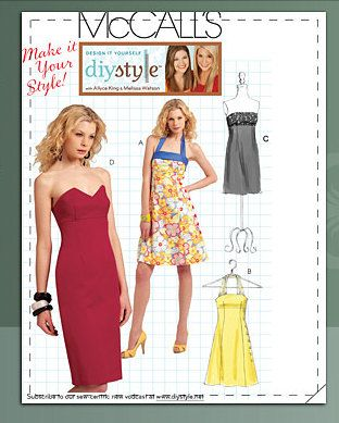 McCalls Dress Pattern M5881 - Misses' Halter or Strapless Dress in ...