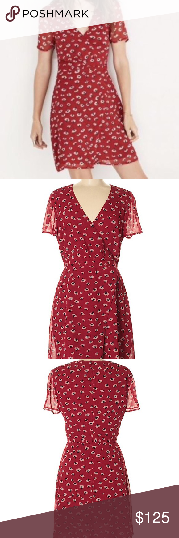 d24d8b3a58e Madewell Seattle floral faux-wrap dress in 6 Worn once! Rare and beautiful Madewell  dress Sold out online! Retail price  158 Madewell Dresses
