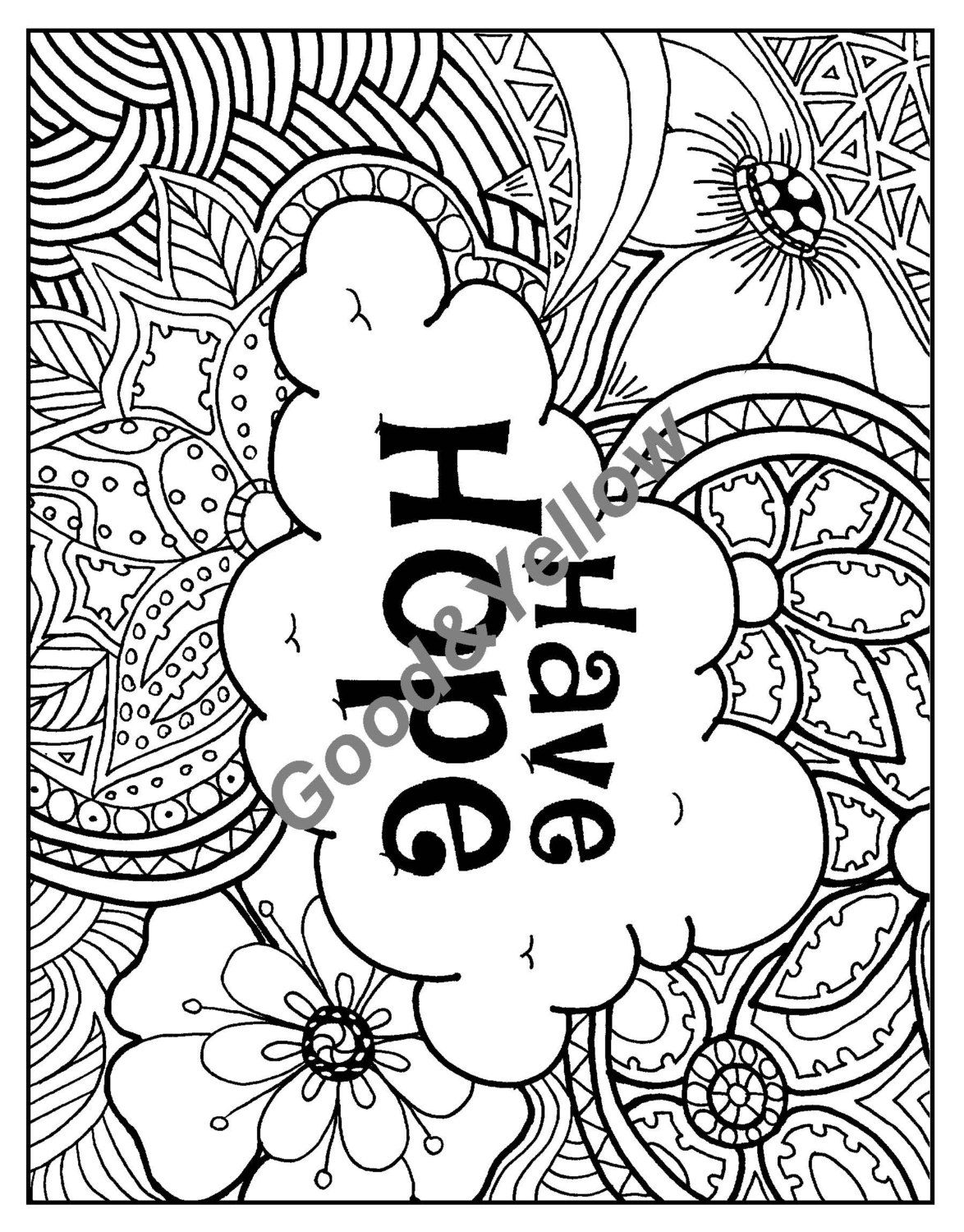 Positive Affirmations Adult Coloring Book By LovableLynzi On Etsy