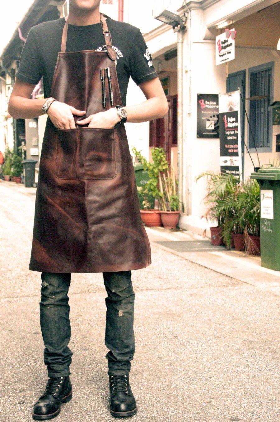 Uniforme Perfeito Lanchonete Leather Butcher S Apron