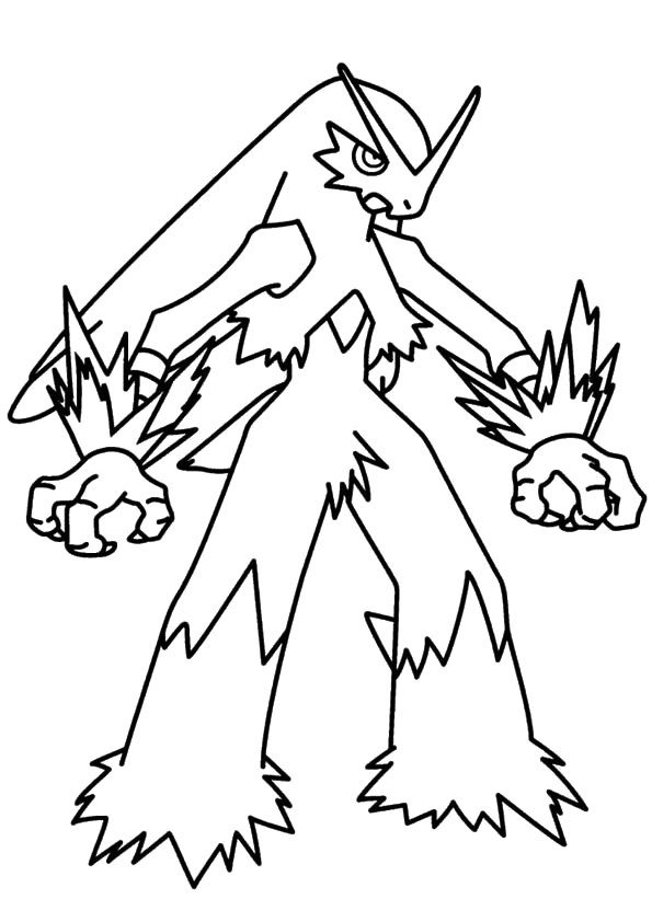 Pokemon Coloring Pages Mega Blaziken Printable Charmander