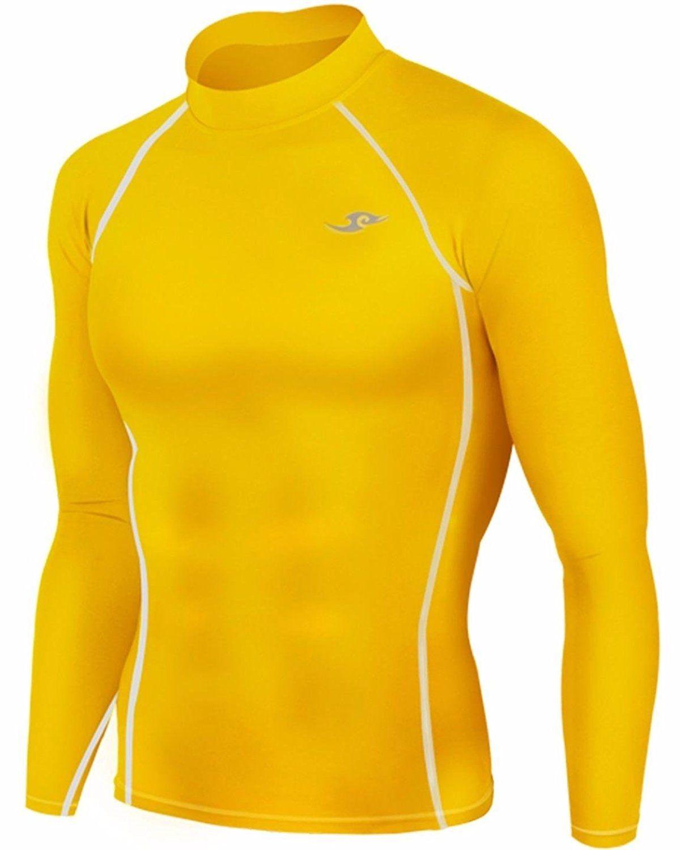MENS sport base layers under thermal shirt skin S-XL