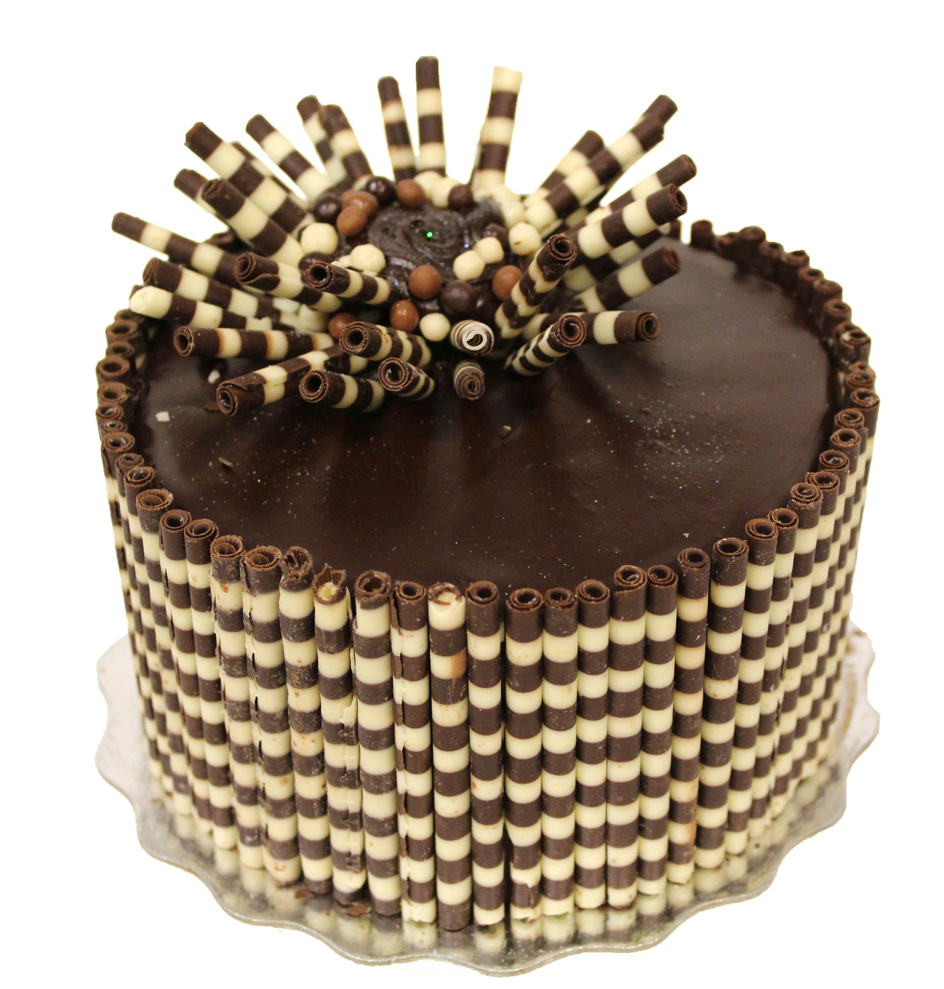 This Unique Chocolate Cake Was Decorated With Dobla Chocolate