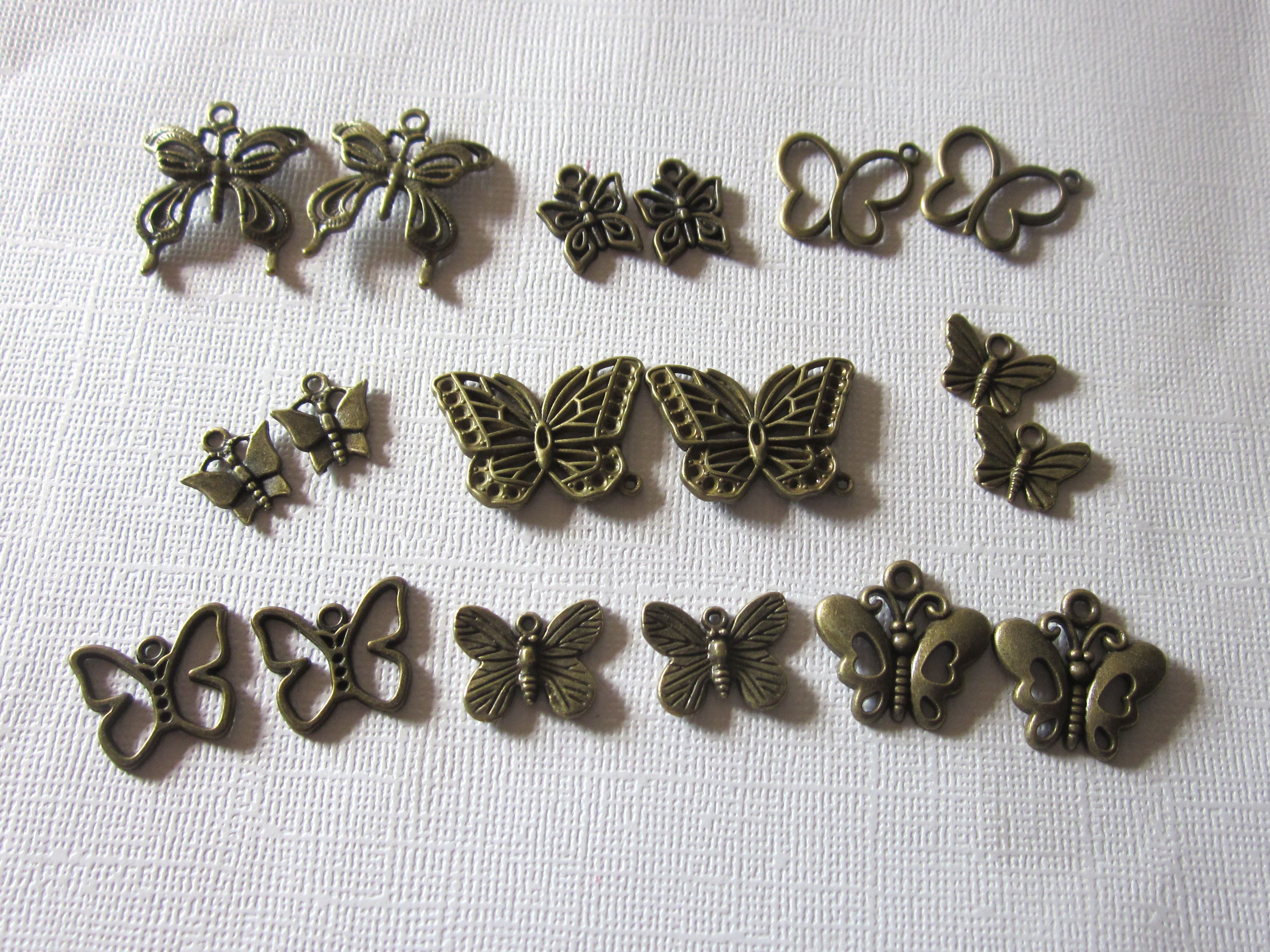 Antique Bronze Mixed Variety Butterfly Charms www.etsy.com/shop/Beads4all