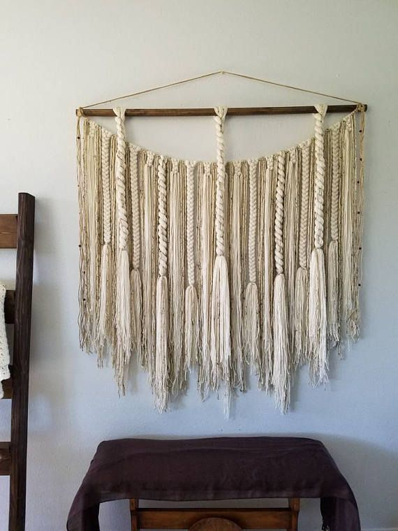 Large Macram 233 Wall Hanging Large Woven Wall Hanging Yarn