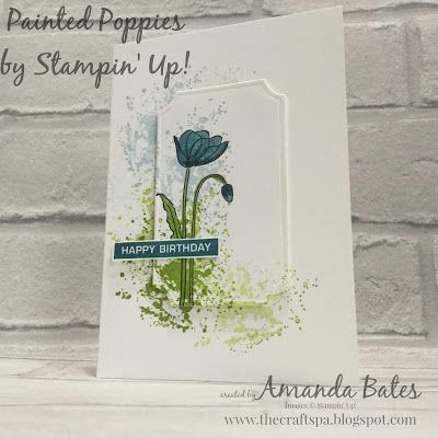 The Craft Spa - Stampin' Up! UK independent demonstrator - Order Stampin Up in UK: Painted Poppies Splatter Notecards Trio Step by Step Pictorial