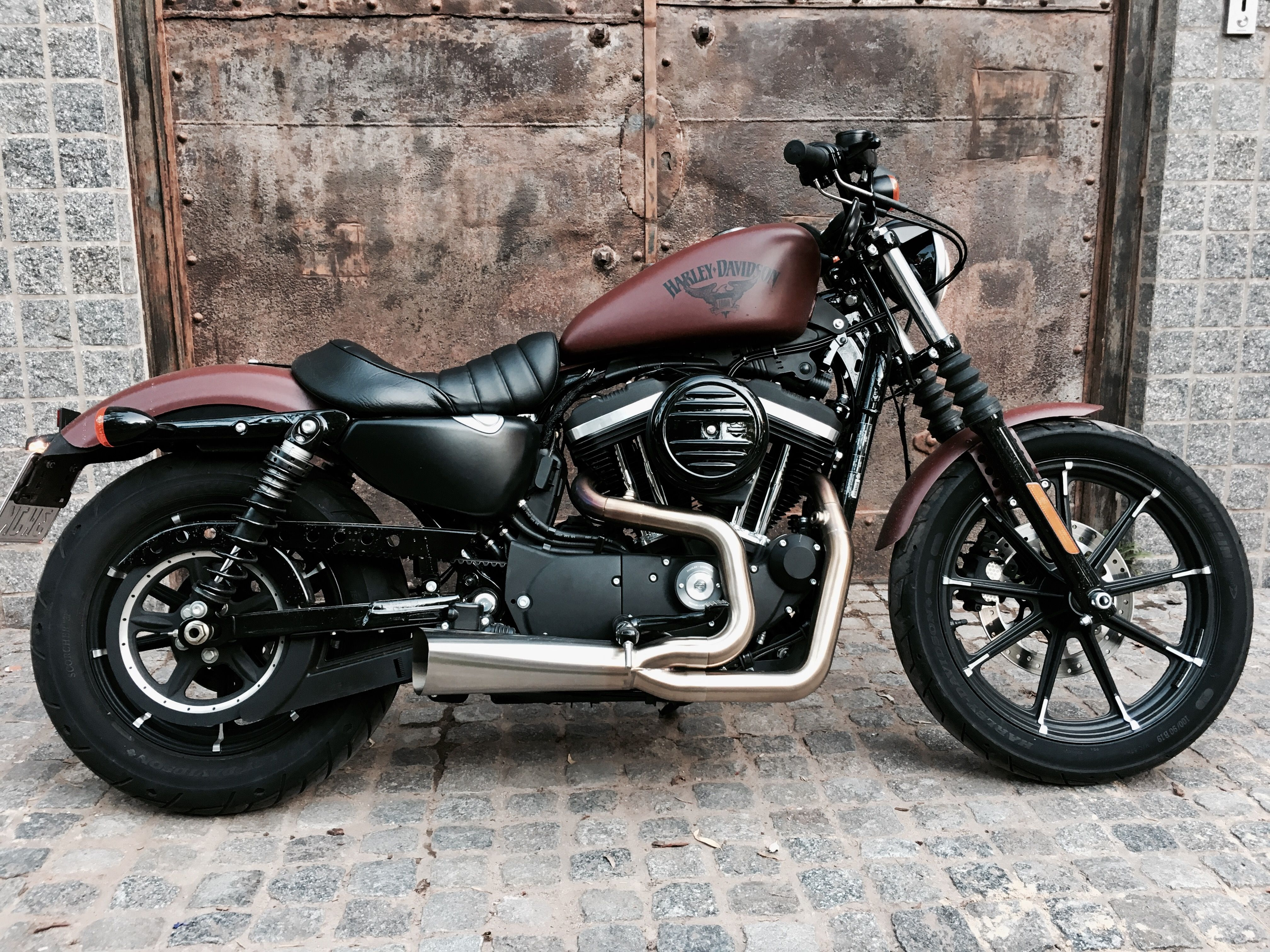 Iron 883 Spoterster Harley Davidson Red Denim Vance