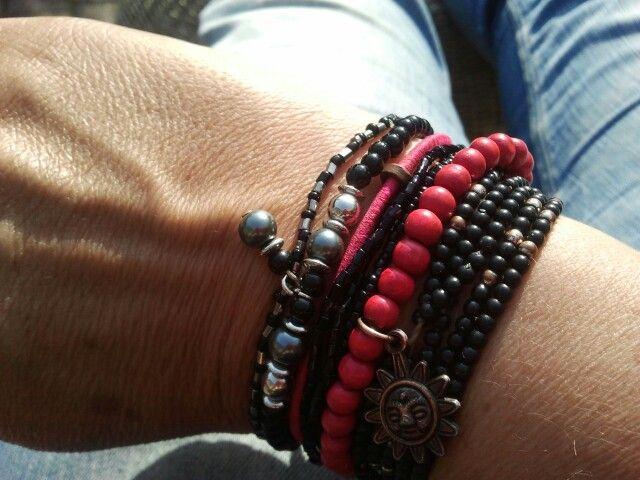 black & pink