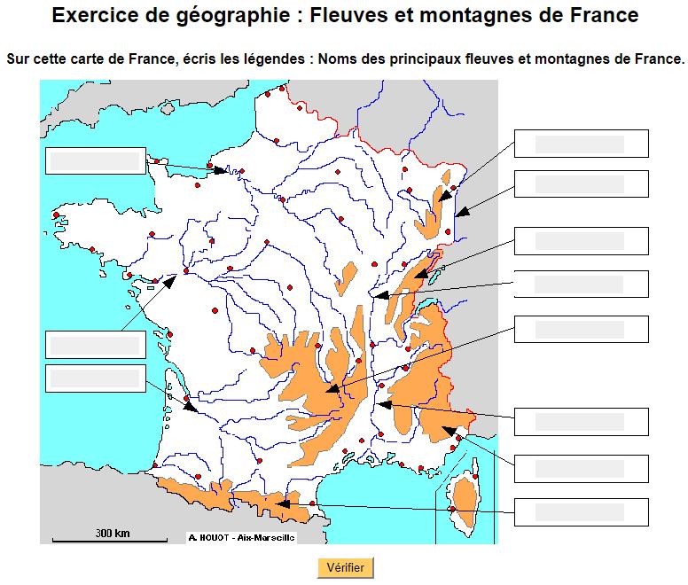 Exercice De Geographie Fleuves Et Montagnes De France Fleuve De France France Montagne Geographie