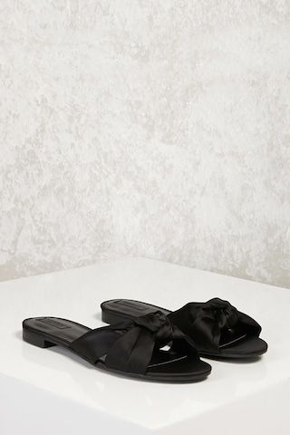 f9dc3bf55 Knotted Satin Slides | shopping list | Satin shoes, Forever 21 shoes ...