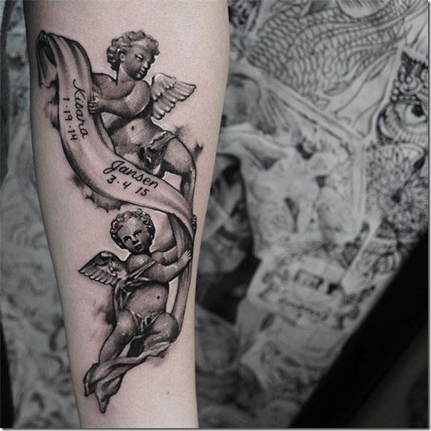 55 models of angel tattoos | Next Tattoos | Tattoos, Angel ...