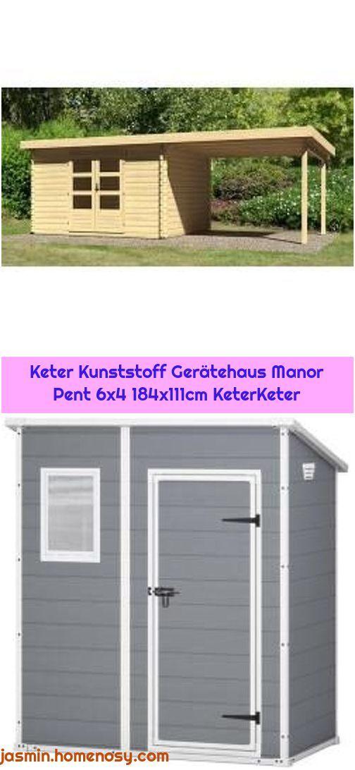 1. WoodFeeling Gartenhaus 28 mm Bastrup 7 natur Anbau 3m