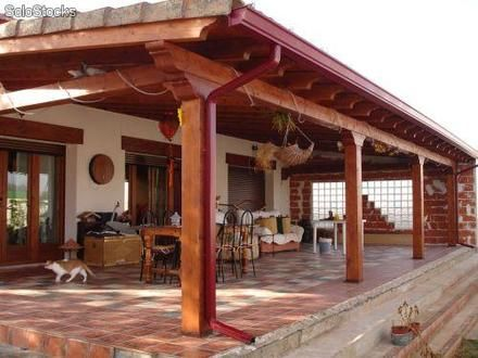 Fotos de cobertizos pergolas terrazas quinchos for Tejados para pergolas