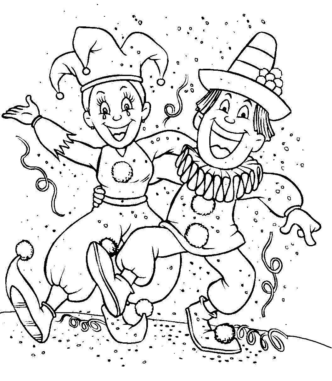 Afbeeldingsresultaat Voor Carnaval Colouring Pages Carnaval Thema Carnaval Kleurplaten