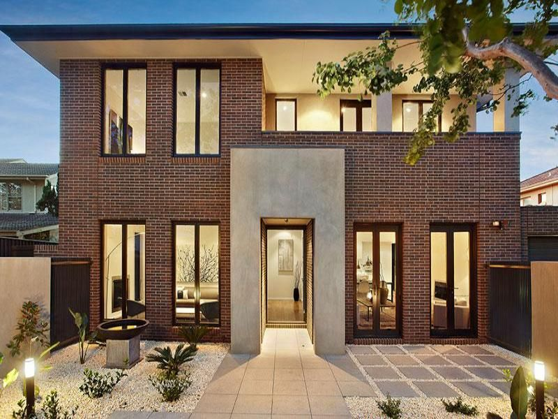 House Facade Ideas Exterior House Design And Colours Brick - Brick house colors with dark brown